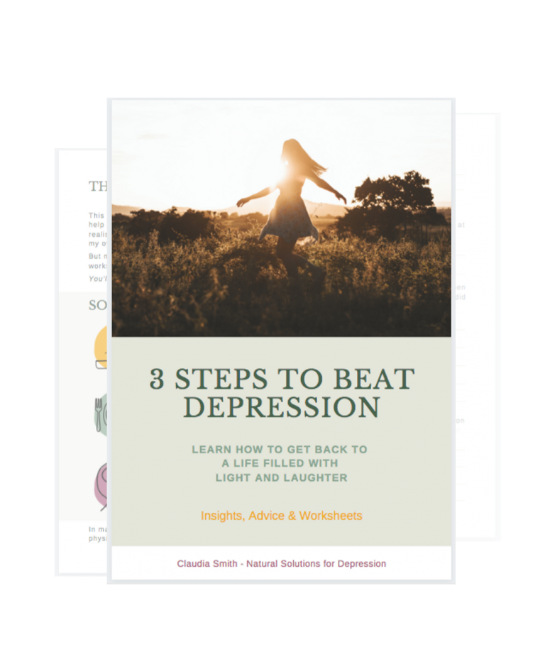 3 steps to beat depression