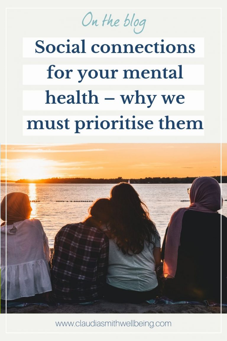 social connections for your mental health