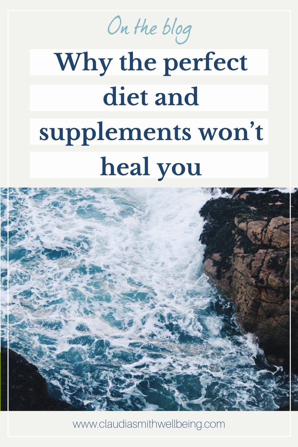 diet and supplements won't heal you