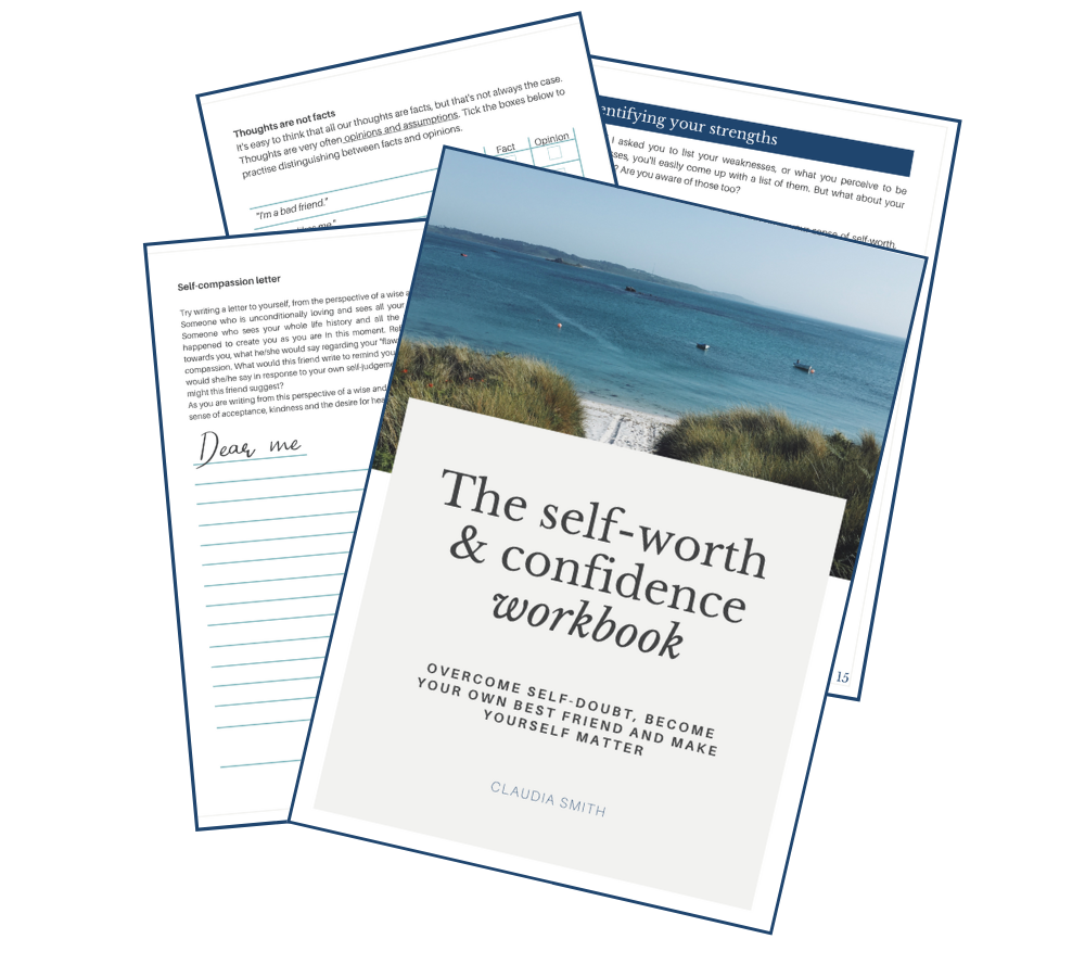 self-worth and confidence workbook